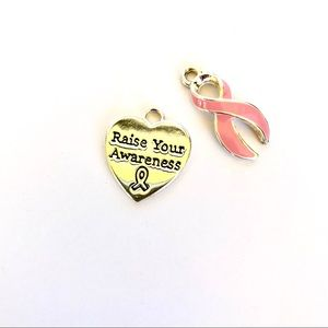 Cancer awareness charms necklace charms